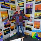 Howard 'Horis' Hornagold at his new shop in Stalham, Caught on Canvas.