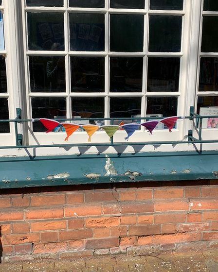 """Leiston Library said the mystery crochet had brought a """"jolly"""" feeling to the town"""