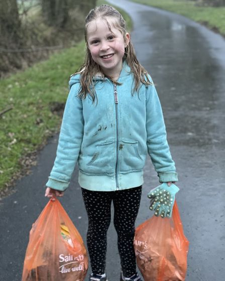 Alexa has collected rubbish in all weathers in Gosfield, Essex