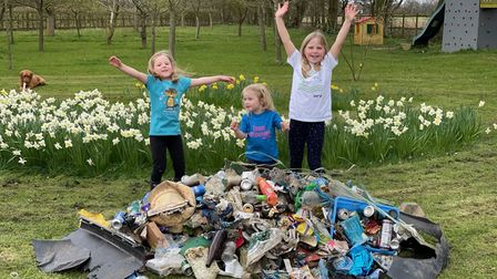 Alexa, Milly and Leonora have picked up tonnes of litter around Gosfield