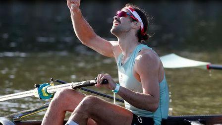 Winning is everything - jubilation at the finish line of the 2021 Boat Race
