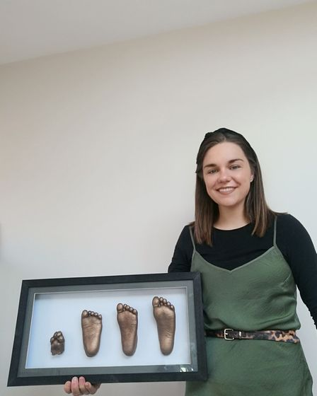 Sarah Cowles, an assistant theatre practitioner at the N&N who has made a cast of the hand of Estrella Catalan.