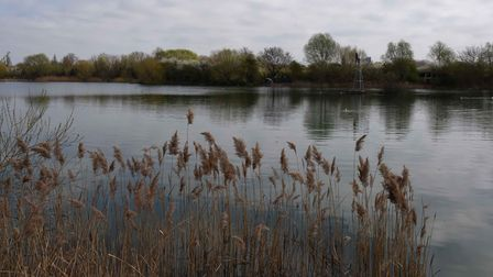 One of the fishing lakes in Eastbrookend Country Park