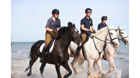 The Household Cavalry training on the beach at Holkham. Picture: Ian Burt