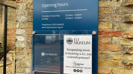 Ely Museum has received a grant of £27,644 from the Government's £1.57 billion Culture Recovery Fund.