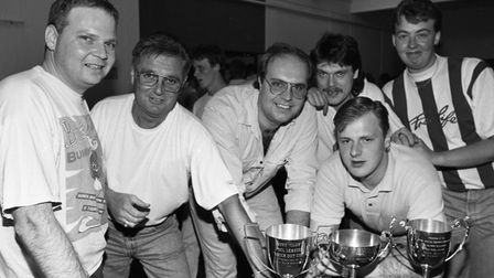 FOR FLASHBACK JUNE 14 10 The Lucky Break Snooker Club pool team in 1992. EADT 14.6.10