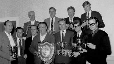 STAR MEMORY FRAME NOSTALGIA The snooker team at Newton Road Conservative Club, Ipswich, in