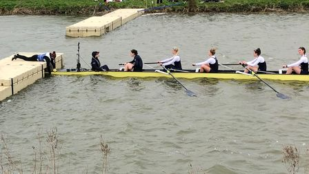Isle of Ely rowers help out Oxford crew before Boat Race 2021