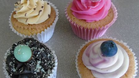 Some of the cupcakes made and sold by the Matless family.