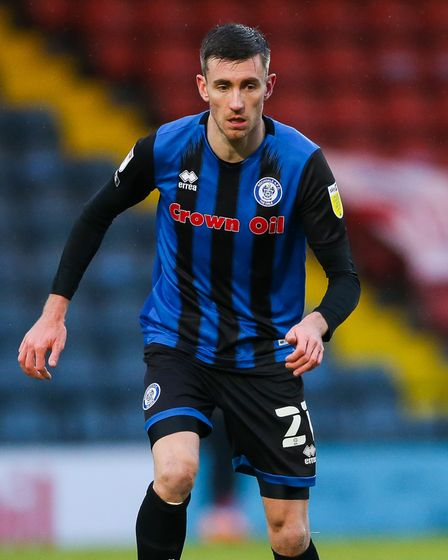 Rochdale's Matthew Lund during the Sky Bet League One match at Crown Oil Arena, Rochdale. Picture da