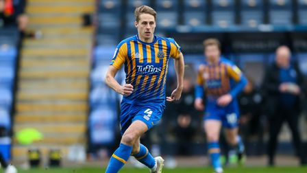 Shrewsbury Town's David Edwards during the Sky Bet League One match at the Montgomery Waters Meadow,