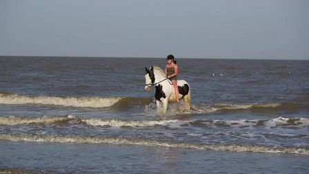 Emma Overton has launched a petition against the ban on horse riding at Frinton beach.