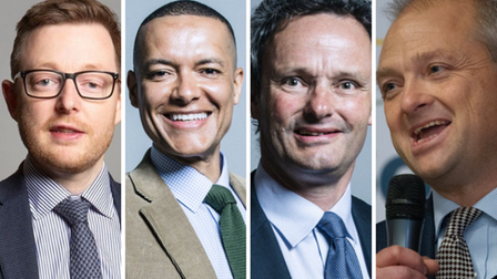 Norfolk and Waveney MPs Duncan Baker, Clive Lewis, Peter Aldous and Jerome Mayhew