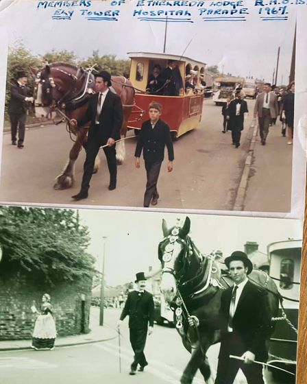 Two Hospital Sunday floats from 1968 and 1967
