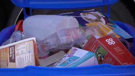 A bin full of the right recycling.