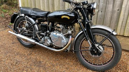 This 1952 Vincent Comet Series C motorcycle will be up for sale at the Cheffins auction