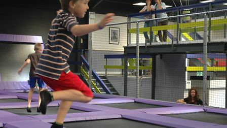 Future Voices: High Altitude trampoline park in Norwich. Photo: Beth Ashby