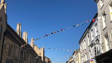 Ely High Street has been given a colourful facelift thanks to new bunting