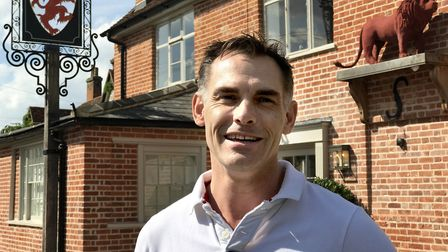 Jonathan Peachey, owner of The Lion in East Bergholt, formerly The Red Lion, which has been newly re