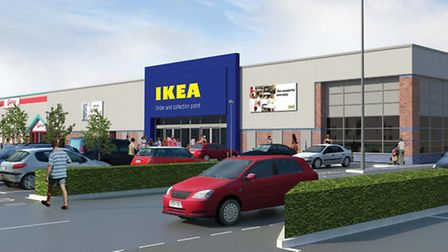 An artist's impression of what the new Ikea store in Norwich will look like. Pic: Ikea.
