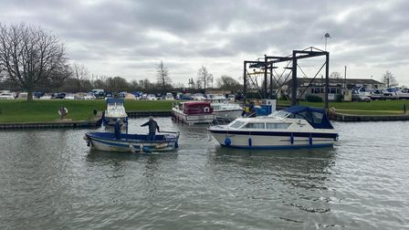 Boaters on the River Great Ouse