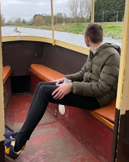 Chief reporter Ben Jolley taking in the picturesque views onboard the Liberty Belle.