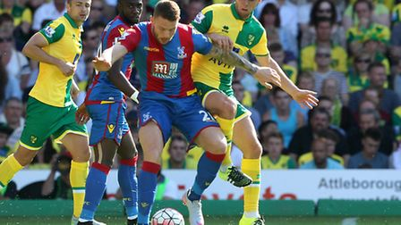 Jonny Howson and Connor Wickham in action. Picture by Paul Chesterton/Focus Images Ltd