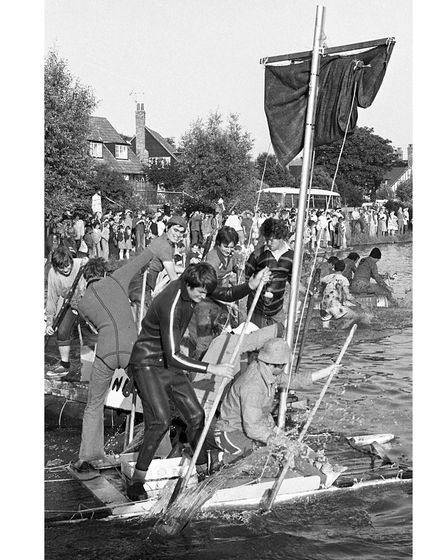 Did you take part in the annual raft race at Thorpeness in July 1979?