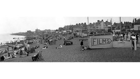A picturetaken from the pier at Felixstowe in August 1964