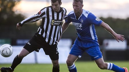 Former Norwich City striker Ryan Jarvis, right, is among the players to have joined Lowestoft Town t