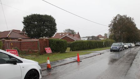Work has just begun at the Norfolk Homes Ltd development off Cley Road, Holt. Picture: KATE WOLSTENH