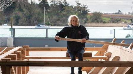 Project Manager for The Sutton Hoo Ship and captain of Woodbridge Rowing Club, Jacq Barnard Picture:
