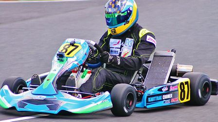 Jack Tritton in karting action.
