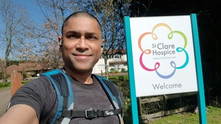 Dr Deb Ghosh shaved off his hair to raise funds for St Clare Hospice and the British Liver Trust.