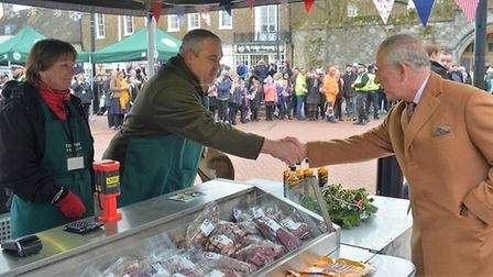 Ely Marketsvisited by Prince of Wales and Duchess of Cornwall in November 2018