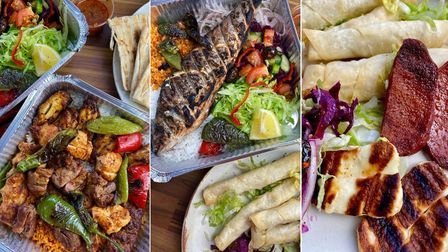 The dishes from Shish Go in Norwich.