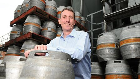 Andy Wood, Chief Executive of Adnams brewery in Southwold.EDP Food festivalPicture : James Bass