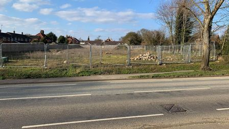 The site on Greenway Lane where to development of homes could take place.