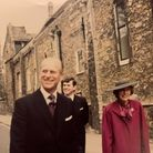 April 1987 the Queen and Prince Philip the Duke of Edinburgh visited Ely for a Maundy Service