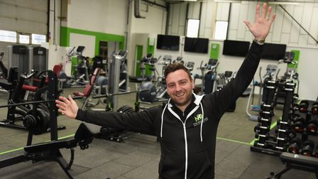 Nathan Gostling celebrates his latest New Revolution (NR) gym, which is at Watton. Picture: DENISE B