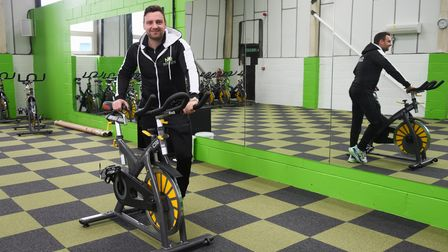 Nathan Gostling in the studio of his latest New Revolution (NR) gym, which is at Watton. Picture: DE