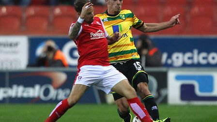 Harry Toffolo enjoyed a winning senior Norwich City debut at Rotherham in the Capital One Cup. Pictu
