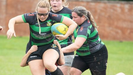 Molly leading the pack at Withycombe Rugby Club
