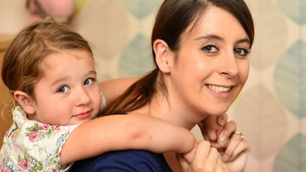 Melanie Gilson with her daughter Isla.Isla contracted a condition called Group B strep shortly after