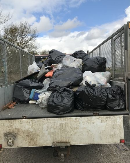 Nearly half a tonne of litter was yielded from the litter pick