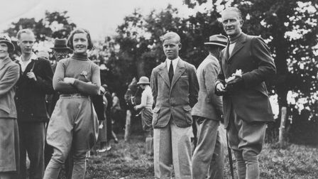 Picture showing Prince Philip presenting an award to the winner of the equestrian competition.