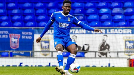 Toto Nsiala in action against MK Dons.
