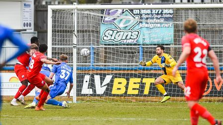 Nathan Tyson equalised for Chesterfield at King's Lynn