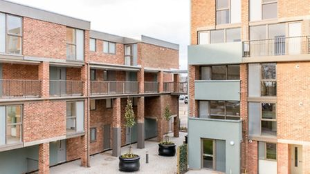 The completed first phase of the £30 million regeneration programme at Hillington Square, King's Lyn
