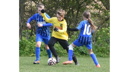 Action from Waveney Thundercats U11 v Ormesby U11. Picture: Mick Howes